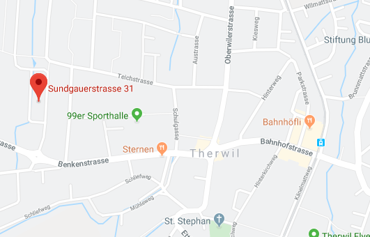 Karte mit Wegbeschreibung zur Kinesiologie Basel Baselland Marianne Schätzle